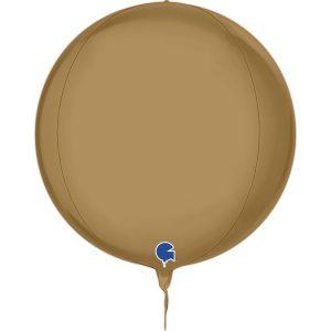 Balão Foil Esférico 4D Champanhe