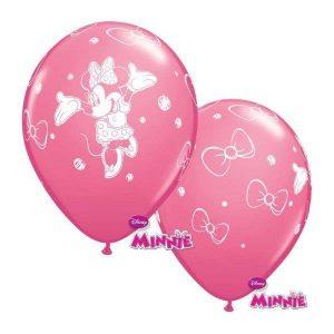 Balão Latex MINNIE rosa 12