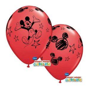 Balão Latex MICKEY vermelho 12