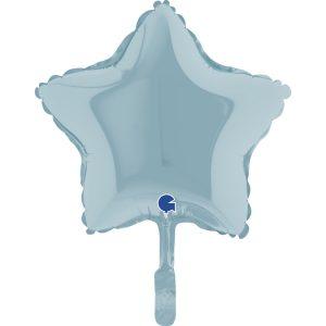 Balão Estrela Foil AZUL MATTE 9