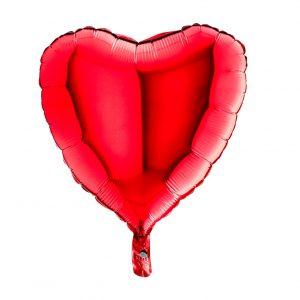 Balão Coração Foil VERMELHO 18