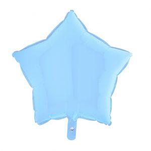 Balão Estrela Foil AZUL CLARO 19