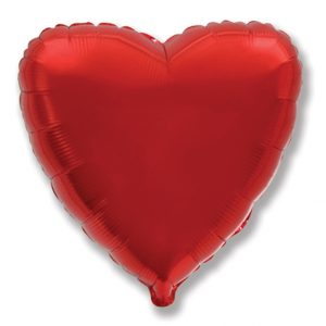Balão Coração Foil VERMELHO 32