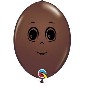 Balão latex cor CHOCOLATE CARA MENINO 6