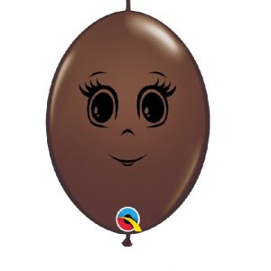 Balão latex cor CHOCOLATE CARA MENINA 6