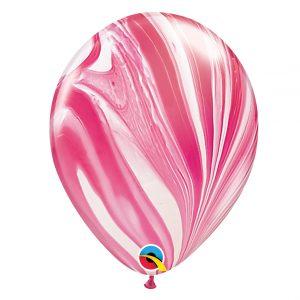Balão Latex cor RED & WHITE AGATE 11