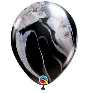 Balão Latex cor BLACK & WHITE AGATE 11