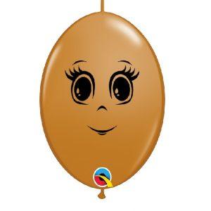 Balão latex cor CASTANHO MOCHA CARA MENINA 6