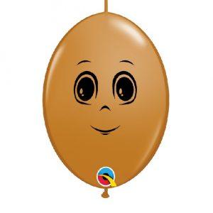 Balão latex cor CASTANHO MOCHA CARA MENINO 6