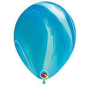 Balão Latex cor BLUE RAINBOW AGATE 11