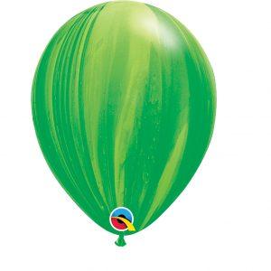 Balão Latex cor GREEN RAINBOW AGATE 11