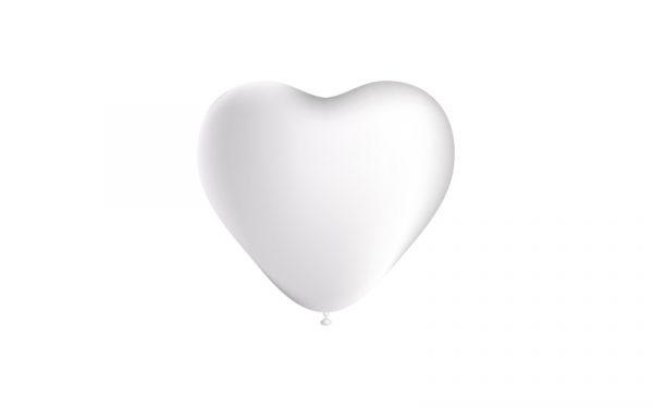 Balão Latex CORAÇÕES BRANCO 5
