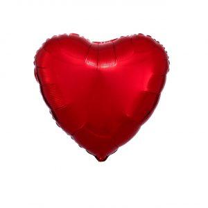 Balão Coração Foil VERMELHO 9