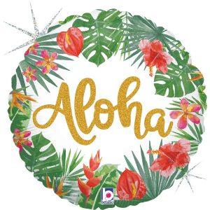 Balão Foil Redondo Aloha 18