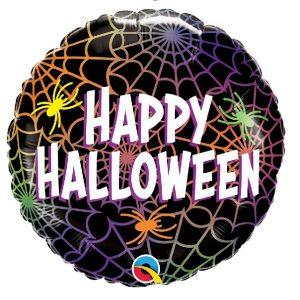 Balão Foil Happy Halloween aranhas 18