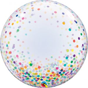 Balão Bubble Confetti MULTICOLOR 24
