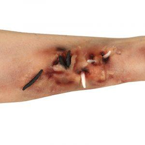 Cartaz ferida com minhocas